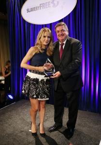 Kelly Preston awards Mr. John Ryan