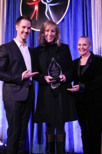 Presenter Jason Dohring, Awardee Peggy Callahan and Dr. Mary Shuttleworth