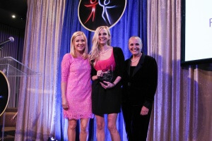 Presenter Jennifer Aspen, Awardee Andrea Powell and Dr. Mary Shuttleworth