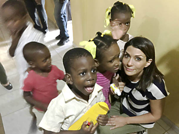 Visiting with Haitian Orphans